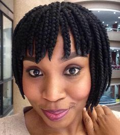 20 Ideas for Bob Braids in Ultra Chic HairstylesIf you've been looking for a more unique protective style, these short box braids hairstyles will show you a whole new world of chic and trendy box braid bobs.Short Box Braided Bob With Straight Bangs C Short Box Braids Bob, Short Box Braids Hairstyles, Bob Box Braids Styles, Blonde Box Braids, Box Braids Styling, Chic Hairstyles, African Braids Hairstyles, Braids For Black Hair, Braid Styles