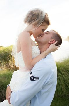 Airforce wedding. Military wife.