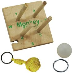 Paracord Survival Accessory Monkey Fist Key Chain Tool Kit/Jig with 4 Colors of Paracord