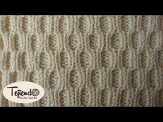 Cómo tejer punto fantasía elástico americano en dos agujas - YouTube Baby Knitting Patterns, Knitting Stiches, Stitch Patterns, Crochet Men, Crochet Baby, Crochet Designs, Knitting Designs, Youtube, Blankets