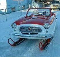 Nash Metropolitan dba Santa's car sleigh