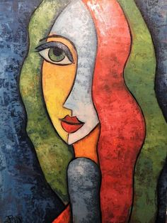 Kunst Picasso, Picasso Art, Intermediate Colors, Abstract Face Art, Cubism Art, Cross Stitch Supplies, Whimsical Art, Painting Inspiration, Watercolor Art