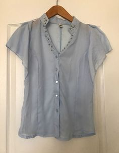Baby Blue Career Casual Blouse #Unbranded #Blouse #Career