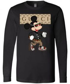 Stylist Gucci Mickey Mouse Long Sleeve - UnicornAZ - Fortnite, Sport, Trending apparel Deadpool Hoodie, Gucci, Tee Design, Stylish Men, Cool T Shirts, Mickey Mouse, Trending Outfits, Long Sleeve, Sleeves