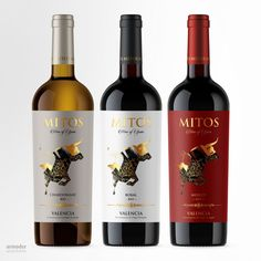 Bodegas Mitos on Packaging of the World - Creative Package Design Gallery Wine Bottle Design, Wine Label Design, Wine Logo, Wine Photography, Wine Sale, Wine Brands, Beer Packaging, Wine And Beer, Wine Labels