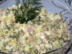 Sałatka z wędzonym kurczakiem i porem - Przepisy kulinarne - Sałatki Pasta Salad, Potato Salad, Salads, Cooking Recipes, Chicken, Ethnic Recipes, Food, Kitchen, Diet