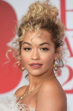 rita ora delivers online tools that help you to stay in control of your personal information and protect your online privacy. Curly Hair Styles, Short Curly Hair, Natural Hair Styles, Wavy Hair, Rita Ora, Celebrity Hairstyles, Up Hairstyles, Wedding Hairstyles, Curly Hair Celebrities