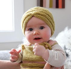 Milk + Cotton: knitted Turbans... for babies!