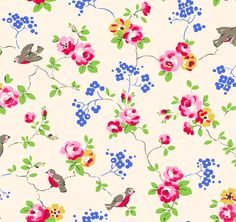 Bird | A delicate modern interpretation of classic chintz that was also one of the first of many signature bird and animal-based Cath Kidston designs | Cath Kidston Classic AW05 |