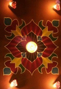Rangoli Ideas, Rangoli Designs Diwali, Diwali Rangoli, Festivals Of India, Indian Festivals, Diwali Decorations, Festival Decorations, Diwali Lights, Rangoli Borders