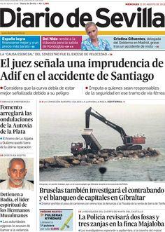 Los Titulares y Portadas de Noticias Destacadas Españolas del 21 de Agosto de 2013 del Diario de Sevilla ¿Que le pareció esta Portada de este Diario Español?