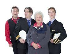 (L-R) - John Finnemore (Arthur Shappey), Roger Allam (First Officer Douglas Richardson), Stephanie Cole (Carolyn   Shappey), and Benedict Cumberbatch (Captain Martin Crieff).