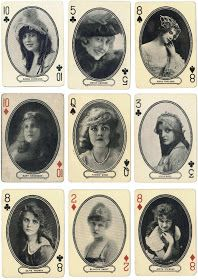 These lovely free digital download of vintage playing cards would be great in many craft projects.    To download just click on the ima...