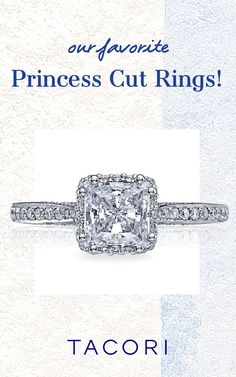 Reigning supreme as one of the most popular diamond cuts, with its clean lines, crisp angles, and iconic status, the princess-cut is a firm fan favorite for good reason. Tempting with its oh-so feminine, signature square silhouette, its charm also rests in the way it's cut - meaning more diamond, bigger sparkle. #princesscut #princesscutring #Tacori #TacoriRing #engagementring Tacori Rings, Tacori Engagement Rings, Princess Cut Rings, Princess Cut Engagement Rings, Clean Lines, Angles, Supreme, Diamond Cuts, Crisp