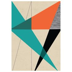 Rocket 68 Diagonal Unity A2 Framed Print: Rocket 68's Geometrical abstract print collection.