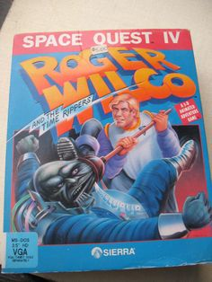 """Space Quest IV Roger Wilco and the Time Rippers Sierra IBM MS-DOS Big Box 3.25""""  #Sierra"""