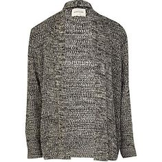 Black tuck stitch cardigan £38.00