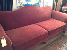 Vintage Burgundy Camel Back Sofa- Price Reduction-SOLD ...