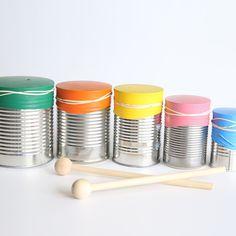 Instrument Craft, Making Musical Instruments, Homemade Instruments, Music Instruments, Drum Lessons For Kids, Drums For Kids, Music For Kids, Washi, Preschool Crafts