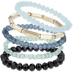 TOPSHOP Facet Stretch Bracelet Pack ($10) ❤ liked on Polyvore featuring jewelry, bracelets, accessories, green, green jewelry, stretch jewelry, topshop, topshop jewelry and plastic jewelry