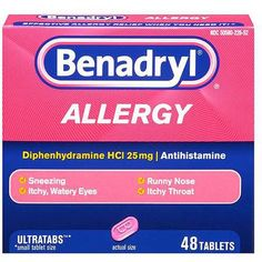 Price: [price_with_discount] Benadryl Allergy UltraTabs Tablets offer effective relief from upper respiratory allergy and common cold symptoms in a small tablet size. Each tablet contains Dog Benadryl, Benadryl Dosage, Dog Meds, Cold Symptoms, Allergy Symptoms, Allergy Medicine, Itchy Throat, Itchy Eyes, Dogs