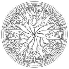 another of my mandala designs to color - Design Pictures To Color