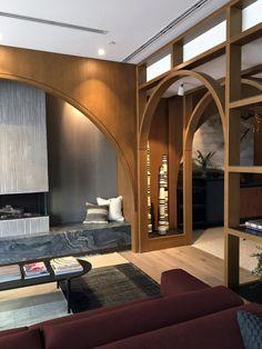 Art and Objects Inc. Mid-century Modern, Modern Design, Contemporary, Villa Necchi, Modern Reception Desk, Living Area, Living Room, Interior Decorating, Interior Design