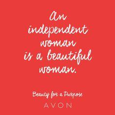 An independent woman is a beautiful woman. #BeautyforaPurpose