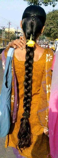 Long Hair Indian Girls, Blonde Hair Black Girls, Indian Long Hair Braid, French Braid Hairstyles, Bun Hairstyles For Long Hair, Indian Hairstyles, Long Hair Ponytail, Braids For Long Hair, Beautiful Braids
