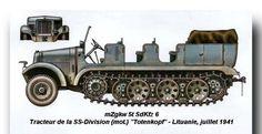 "mZgKw 5 t SdKfz 6 tractor de l división SS ""totenKopf"" Lituania 1941"
