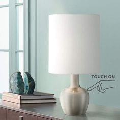 """Betsy Brushed Steel 15 1/4"""" High Touch On-Off Table Lamp"""
