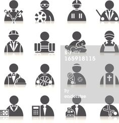 Royalty-free Vector Art: Occupation Icons