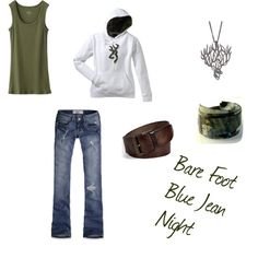 Bare Foot Blue Jean Night, created by bamagrl07 on Polyvore