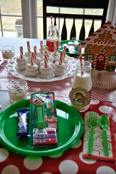 70 Ideas For Breakfast Party Decorations Mornings North Pole Christmas Brunch, Christmas Breakfast, Christmas Morning, Christmas Elf, Family Christmas, Christmas Ideas, Christmas Crafts, Christmas 2019, Santa Breakfast
