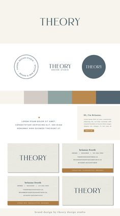 Theory Design Studio offers carefully-crafted brand design for creative entrepreneurs and small businesses who are wanting to make their mark stand out. Brand Identity Design, Graphic Design Branding, Corporate Design, Identity Branding, Corporate Identity, Brochure Design, Visual Identity, Web Design Studio, Design Design