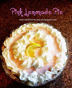a perfect summertime dessert - easy, and refreshing.  Pink Lemonade Pie!