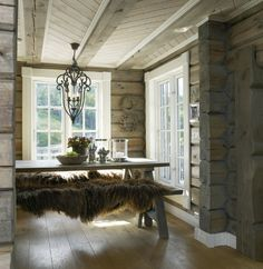 logs with white windows Cabin Homes, Log Homes, Log Home Interiors, Up House, Cabins And Cottages, Cozy Cottage, My Dream Home, Interior And Exterior, House Design