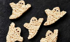 Yotam Ottolenghi's halva and white chocolate Rice Krispies ghosts.