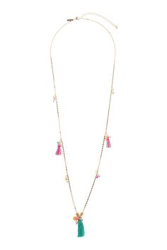 Tassel and Charm Necklace - Jewellery - Bags & Accessories - Topshop Europe