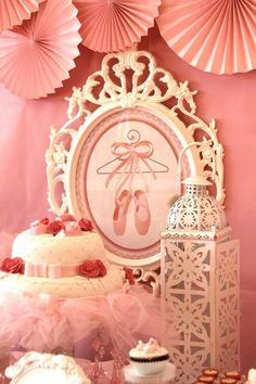 Pink Ballerina Birthday Party via Kara's Party Ideas | Kara'sPartyIdeas.com