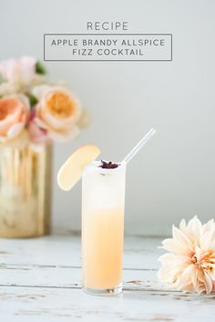 Apple Brandy Allspice Fizz Cocktail