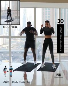 Full Body Workout At Home, Hiit Workout At Home, Gym Workout Videos, Gym Workout For Beginners, Fitness Workout For Women, Sport Fitness, At Home Workouts, Body Workouts, Beginner Full Body Workout
