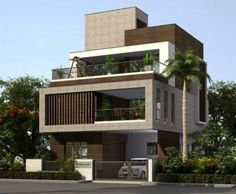 Apartment design exterior beautiful 57 ideas for 2019 apartment is part of House design - Modern Bungalow Exterior, Modern Exterior House Designs, Modern House Design, Exterior Design, Exterior Signage, Exterior Cladding, 3 Storey House Design, Bungalow House Design, House Front Design