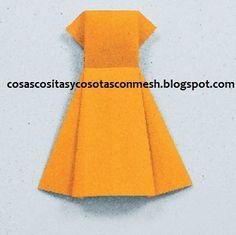 Manualidades vestido de papel en origami : cositasconmesh