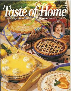 Check out Taste of #Home #Magazine June July 1998 Back Issue #Summer Pies #Potato Salad.