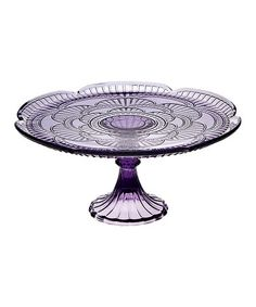 Take a look at this Amethyst Marcela Cake Stand by Godinger on #zulily today! look for sofias party