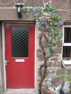 Garden Mosaic with Wisteria by Katy Galbraith