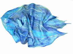 Felted scarf nuno felted scarfshawltextured scarf by lannarfelt