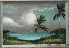 Lg Orig Sam Newton Florida Highwaymen Golden Sunset African American 2of3 #Impressionism