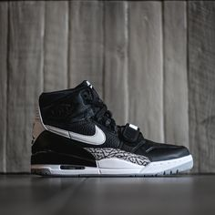 AIr Jordan Legacy 312 - Black/White Air Jordan Sneakers, Jordan Shoes, Black Sneakers, Shoes Sneakers, Air Jordan 12 Retro, Nike Shox, Womens Fashion Sneakers, Kinds Of Shoes, Hot Shoes